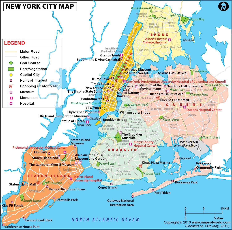 new york karta New York metro karta över området   NYC metro karta över området  new york karta