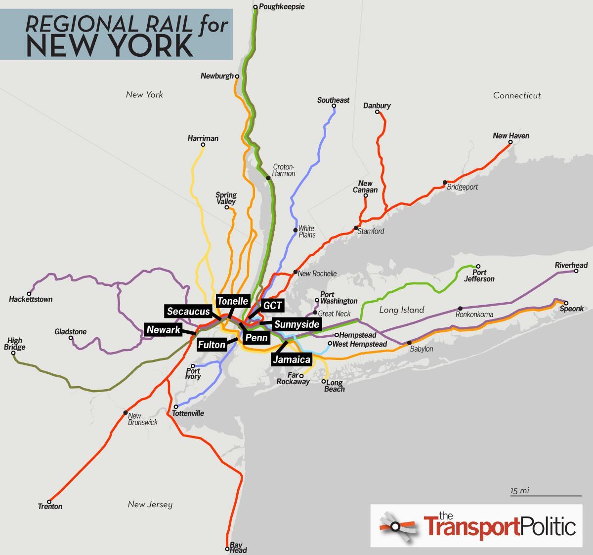 karta pendeltåg NYC pendeltåg karta   New York pendeltåg karta (New York   USA) karta pendeltåg